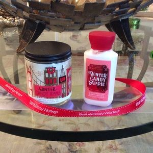 Bath & Body Works Candle/ Lotion Duo NWT Bag Too